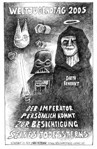Weltjugendtag 2005 - Imperator Darth Ratzinger - Der Imperator persnlich kommt zur Besichtigung seines Todessterns