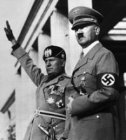Adolf Hitler mit Benito Mussolini