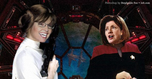 Sarah Palin = Star Wars, Hillary Clinton = Star Trek
